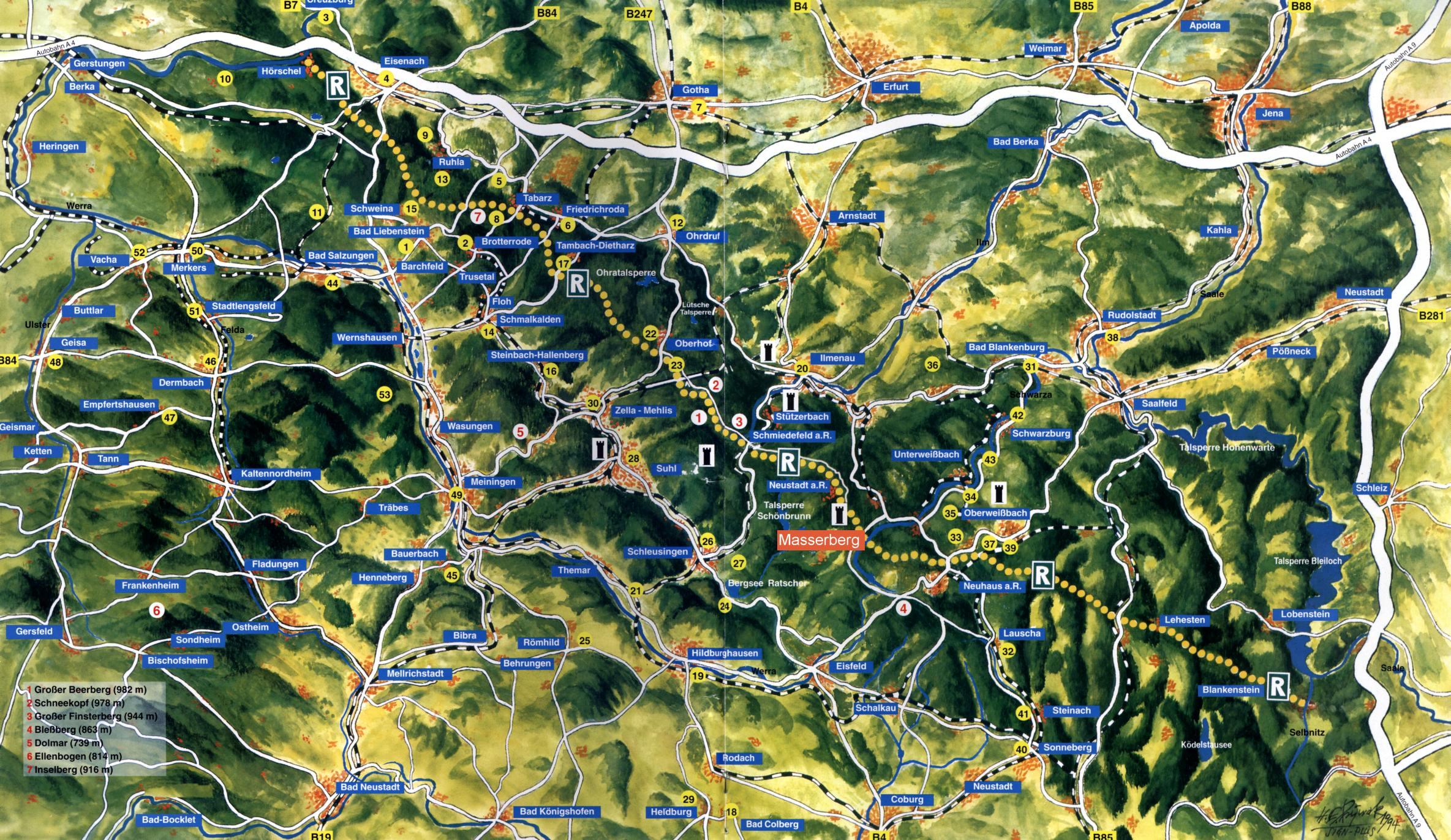 Thüringer Wald Karte.Ferienhaus Im Thüringer Wald